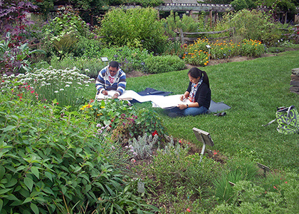 Feb 2, 2020: Sketching in the Greenhouse at Plant Production Facility, 397 Forest Home Drive