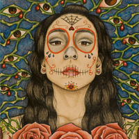 Sugar Skull II, artwork submitted by SUNY Oswego student Sophia Pérez