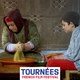 """Image from """"Tazzeka"""" of a woman and boy with the text """"Tournées French Film Festival"""""""