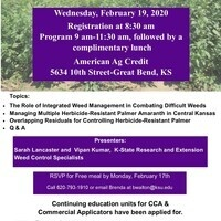 Integrated Weed Control Management 0f Herbicide Resistant Weeds