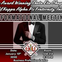 Kappa Alpha Psi Informational Meeting