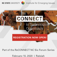 A flier for the ReCONNECT to Technological Opportunity Forum.