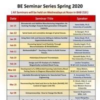 Department of Bioengineering Spring Seminar Series