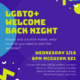 LGBTQ+ Welcome Back & Button Making!