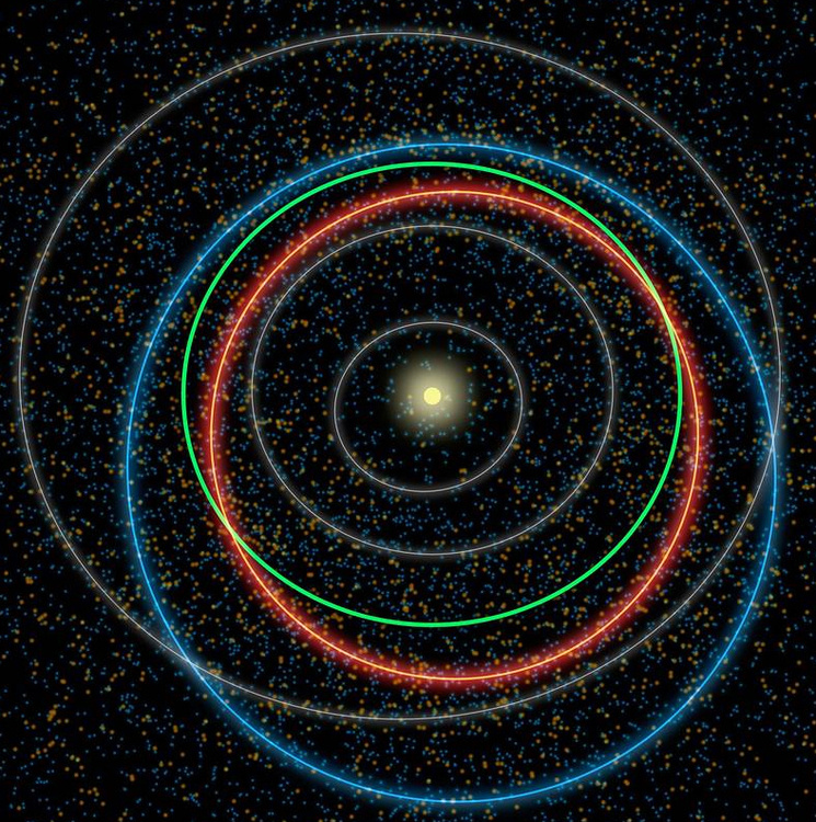 Artist's conception of an asteroid in our solar system. Credit: NASA/Caltech.