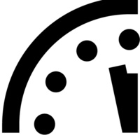 Doomsday Clock graphic from The Bulletin of Atomic Scientists