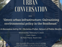 """Urban Conversation with Dr. Christina Fuller: """"Green urban infrastructure: Galvanizing environmental policy in the Southeast"""""""