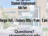 Spring 2020 Student Employment Fair