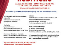 Auditions for Spring PMA Productions