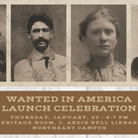 Wanted in America Launch Celebration poster