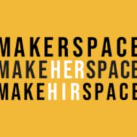 MakeHERspace logo on yellow background