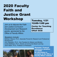 Faith & Justice Grant Workshop Flyer