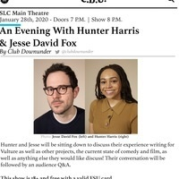 CDU Presents: An Evening with Hunter Harris and Jesse David Fox