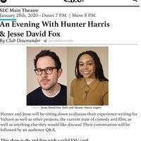 CDU Presents: An Evening with Hunter Harris and Jesse David Fox