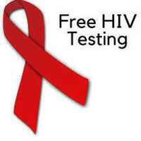 Free HIV Testing and Red Ribbon