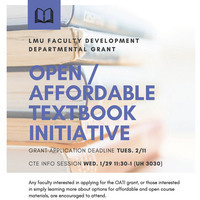 Open/Affordable Textbook Initiative Flyer