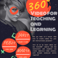 360° Video for Teaching and Learning Flyer