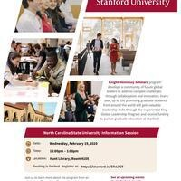 A poster about the Knight-Hennessy Scholars program.