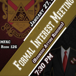 Phi Mu Alpha Sinfonia Formal Interest Meeting