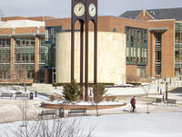 Frostburg State in winter