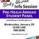 Study Abroad Pre-Health Student Panel