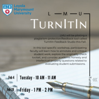 TurnItIn Workshop Flyer Spring 2020
