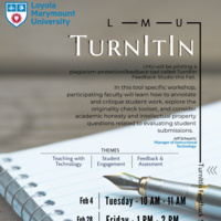 TurnItIn Workshop Flyer Spring 2020