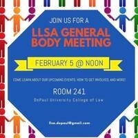 DePaul Latino Law Student Association General Body Meeting