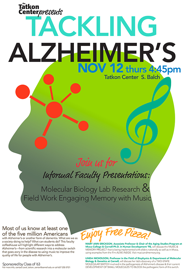 Tackling Alzheimer's: Faculty Coffeehouse, Two Faculty, Two