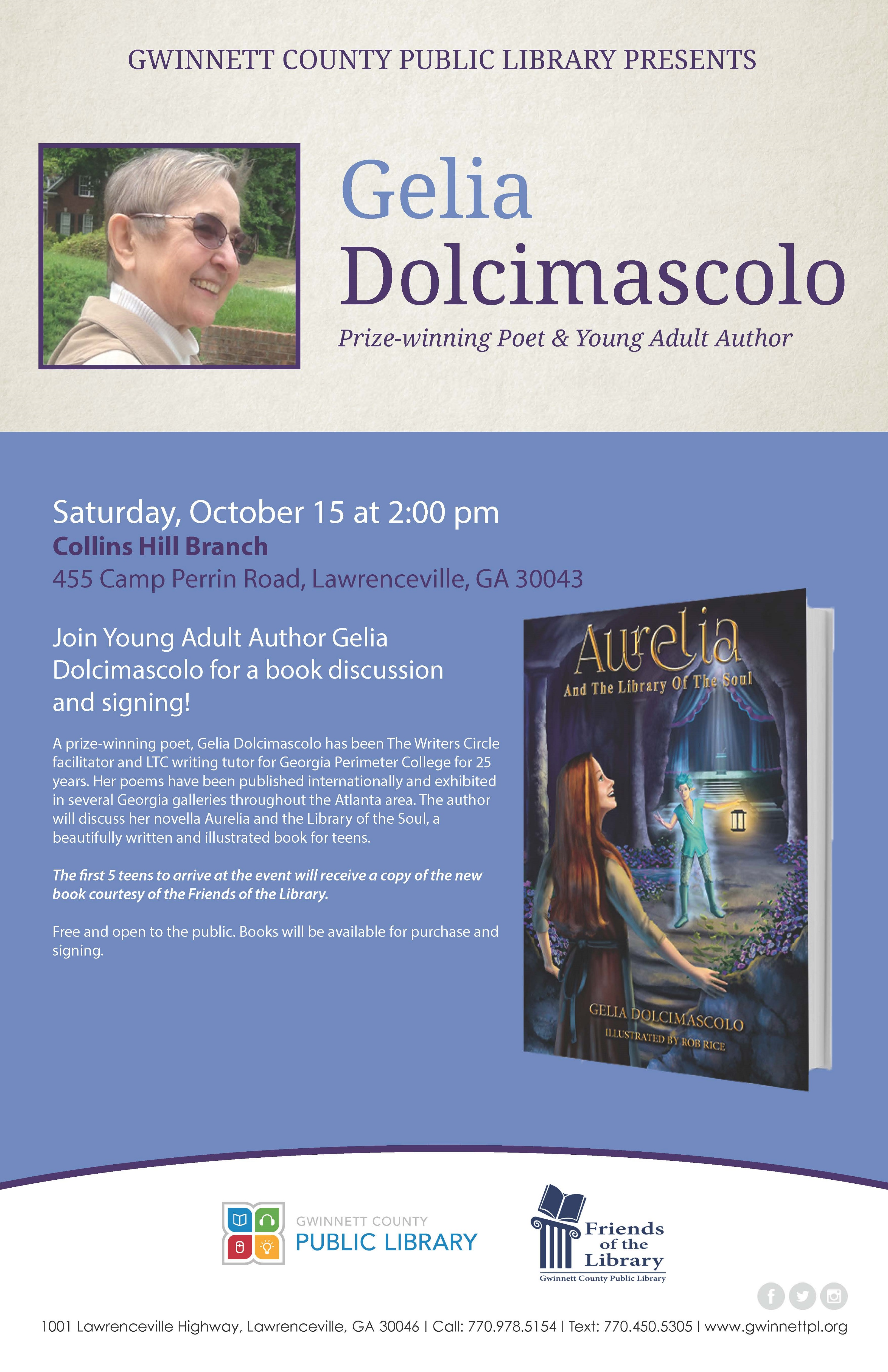 Gelia Dolcimascolo, American Novelist - Presented by