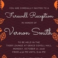 Farewell Reception for Vice Provost Vernon Smith