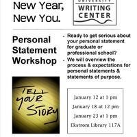 Personal Statement Workshops