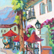 """""""Early Morning Coffee in Old Town La Quinta II"""" by Diane McClary"""