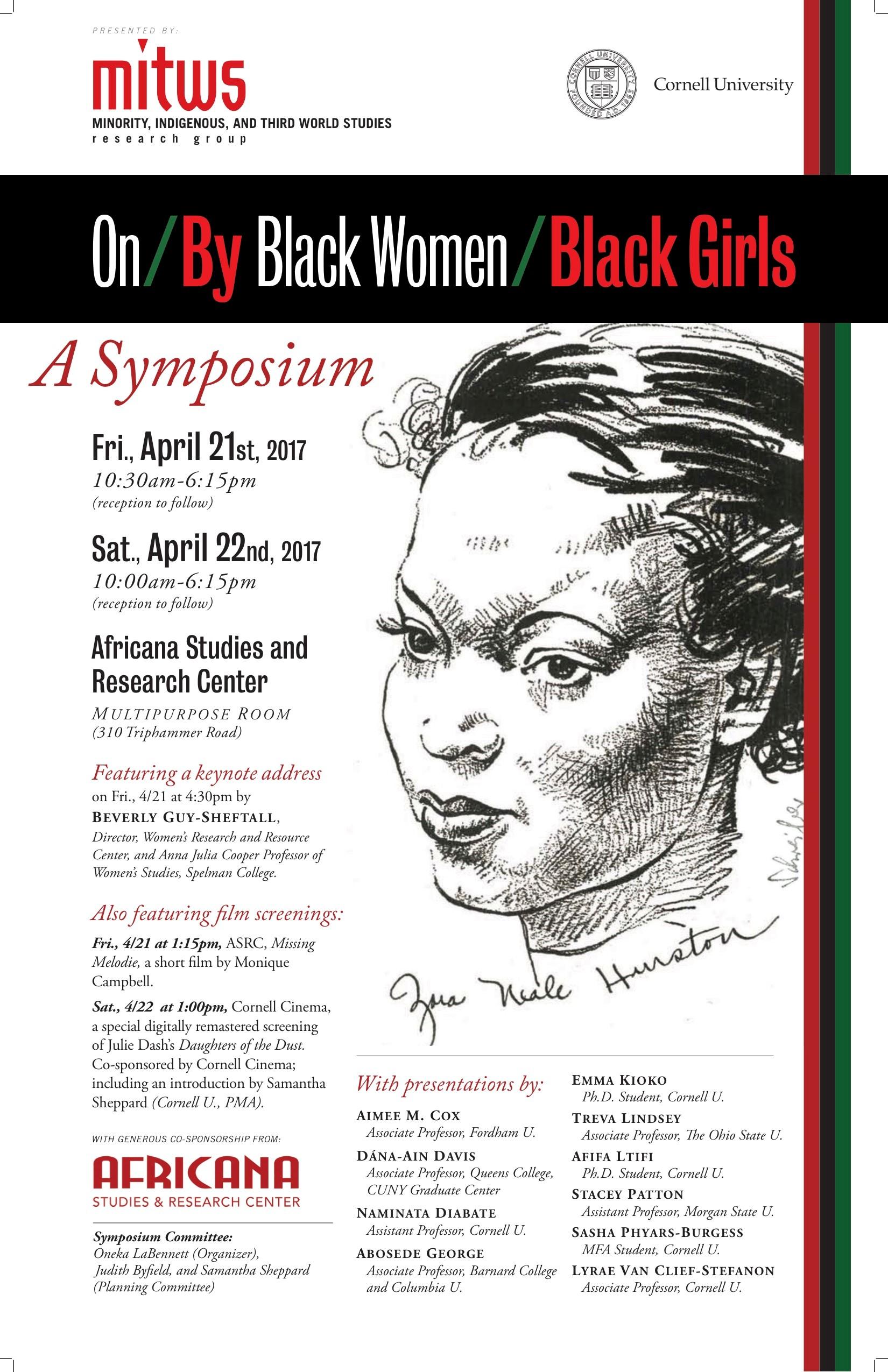 On/By Black Women/Black Girls: A Symposium