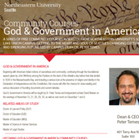 Community Courses: God & Government in America - Course #4