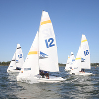 Sailing at Laser South & Navy Women's Fall Regatta