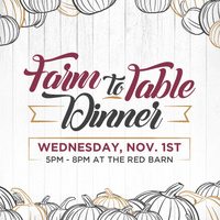 Farm-To-Table Dinner & Josh Smith Memorial Sustainability Award Ceremony