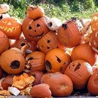Compost your old pumpkins!