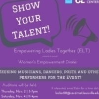 Women's Empowerment Dinner Auditions