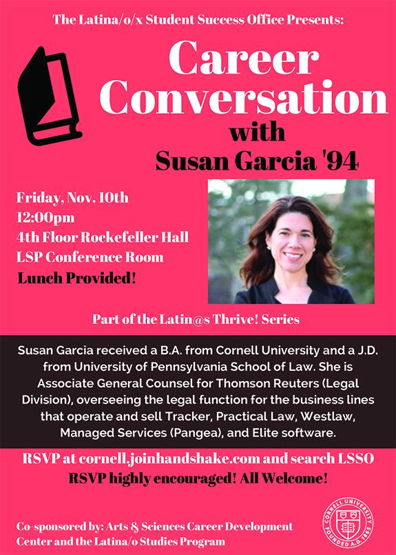 Career Conversation with Susan Garcia '94 - Cornell