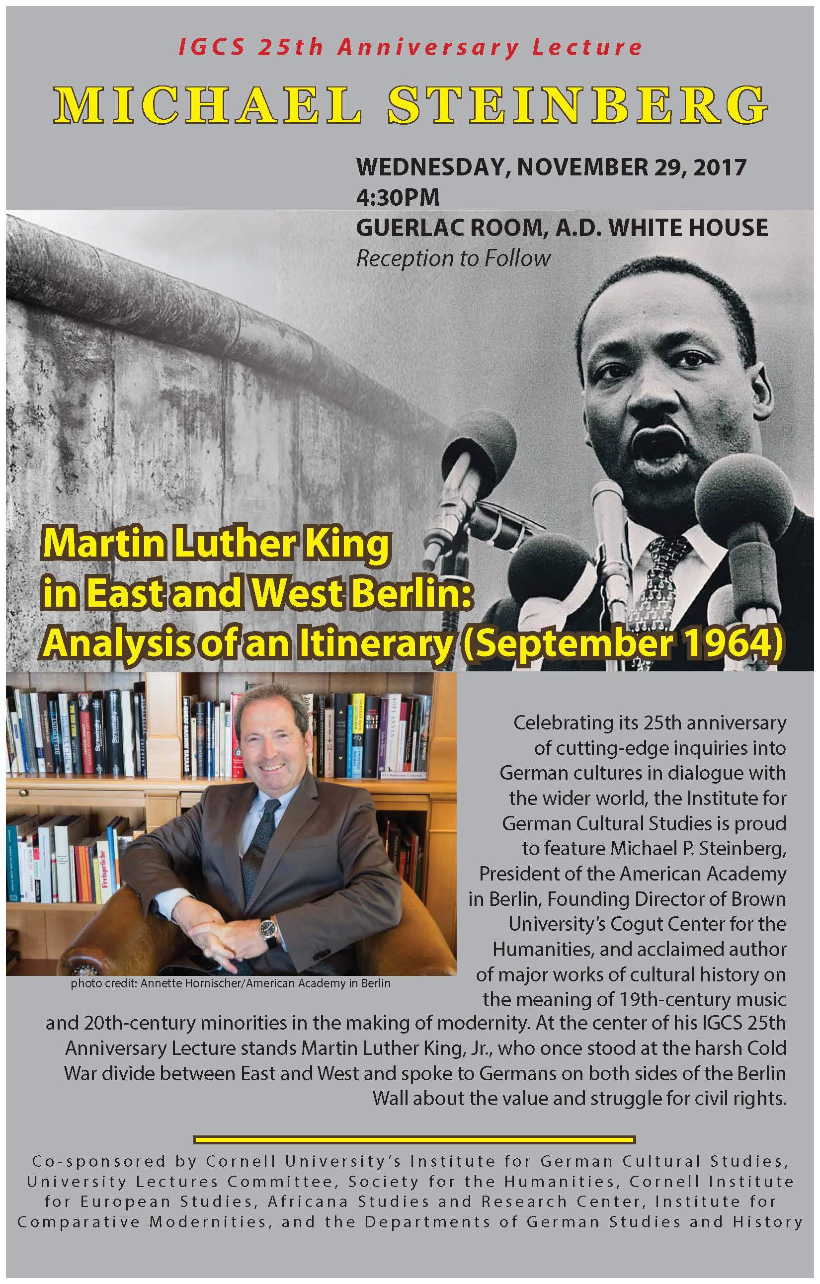 Martin Luther King in East and West Berlin: Analysis of an