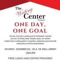 NU Writing Center's One Day, One Goal