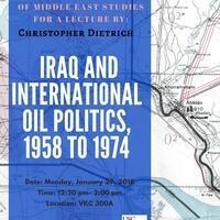Iraq and International Oil Politics, 1958 to 1974