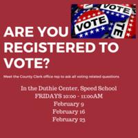 Voter Registration on Campus on FRIDAYS