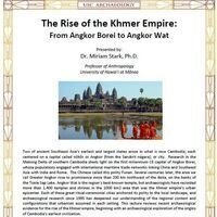 "Archaeology Around the World Lecture Series: ""The Rise of the Khmer Empire"" presented by Dr. Miriam Stark, University of Hawai'i"