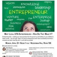 Meet Local UTA Entrepreneurs-How Did They Make It?