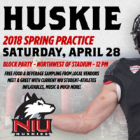 NIU Football Spring Game and Block Party