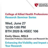 CAHP Research Seminar Series
