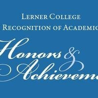 Lerner College Honors & Achievement Day Ceremonies