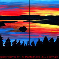 Emerald Bay Sunrise ~ Paint & Sip Class ~ BYOB beer or wine!